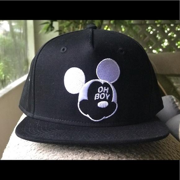 6655eddb655 NEFF Disney Mickey OH-BOY Hat Snapback NEW